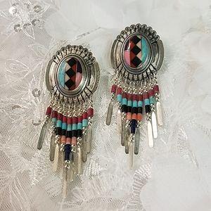 Southwestern Sterling Silver Earrings